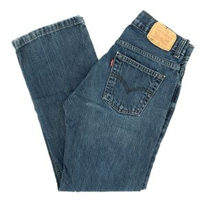 Levi's 505 Jeans Straight Embroidered Denim 27X27